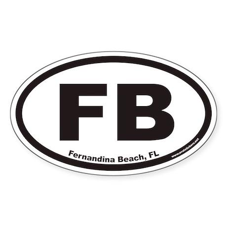 Fernandina Beach Fb Euro Oval Decal By Ovalstickers