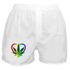 Peace Love and Pot Boxer Shorts