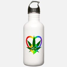 Peace Love and Pot Water Bottle