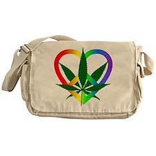Peace Love and Pot Messenger Bag