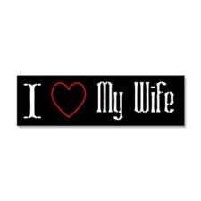I Love My Wife Car Magnet 10 x 3