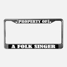 Folk Singer Music License Plate Frame
