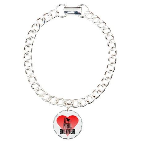 Pit Bull Charm Bracelet, One Charm
