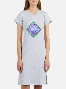 Celtic Watercolor Knotwork Women's Nightshirt