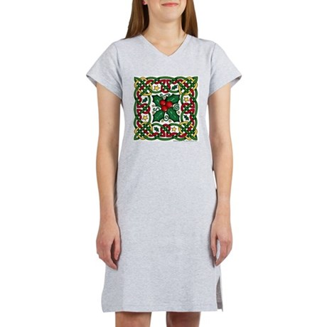 Celtic Garland & Holly Women's Nightshirt