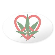 Peace Love and Pot Decal
