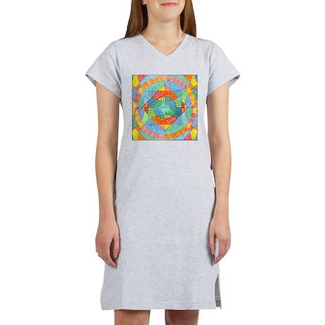 Sacred Geometry Watercolor Women's Nightshirt