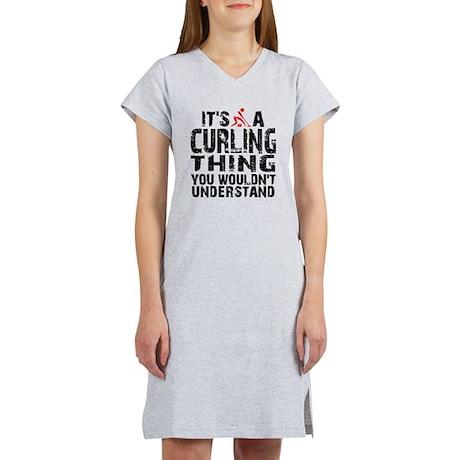 Curling Thing Women's Nightshirt