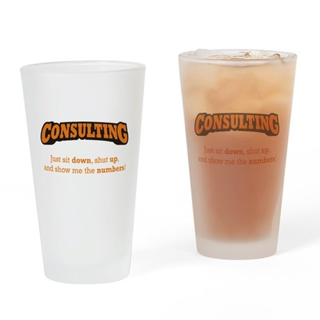 Consulting-Numbers Drinking Glass