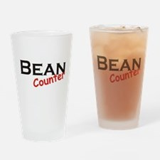 Bean Counter Drinking Glass