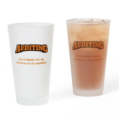 Auditing-Numbers Drinking Glass