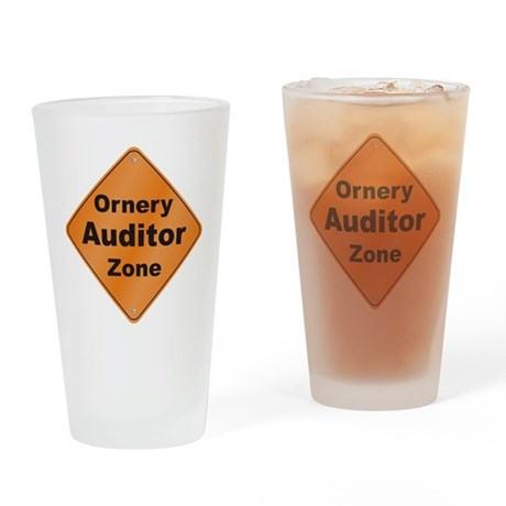 Ornery Auditor Drinking Glass