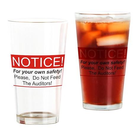 Notice / Auditors Drinking Glass