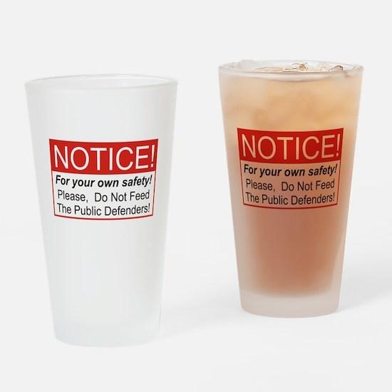 Notice / Defender Drinking Glass