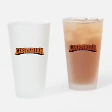 Librarian (Orange) Drinking Glass