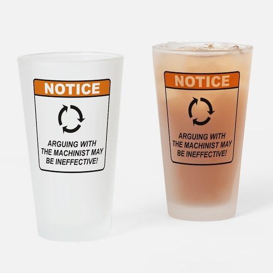 Machinist / Argue Drinking Glass