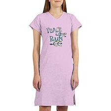 Peace Love Run CC Women's Nightshirt
