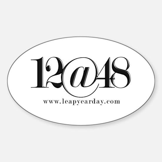 12@48 Sticker (Oval)