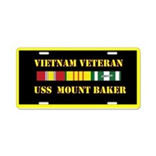 USS Mount Baker Aluminum License Plate