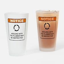 Plumber / Argue Drinking Glass