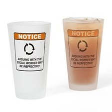 Social Worker / Argue Drinking Glass