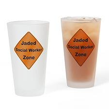 Jaded Social Worker Drinking Glass