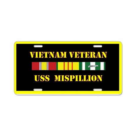 USS Mispillion Aluminum License Plate