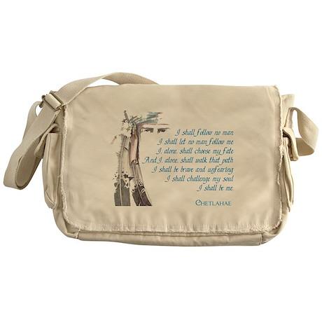 I Shall Be Me Messenger Bag