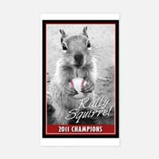 Rally Squirrel 2011 Champions Sticker (Rectangle)