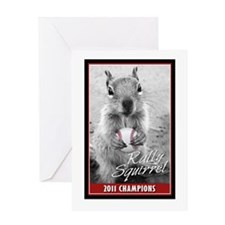 Rally Squirrel 2011 Champions Greeting Card