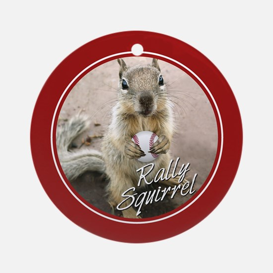 Rally Squirrel 2011 Champions Ornament (Round)