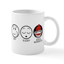 Eat Sleep Sock Monkeys Mug