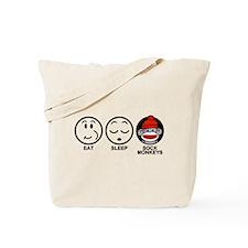 Eat Sleep Sock Monkeys Tote Bag