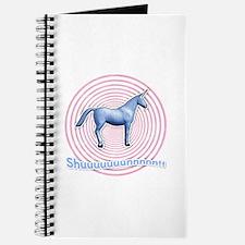 Shuuuunnn! Blue unicorn! Journal