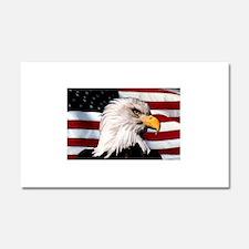 Bald Eagle Flag Water Color Car Magnet 20 x 12