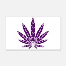 Purple Leaf Car Magnet 20 x 12