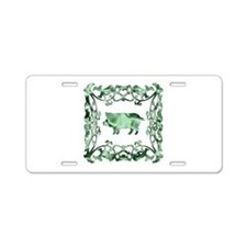 Pig Aluminum License Plate