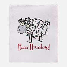 Holiday Humbug Throw Blanket