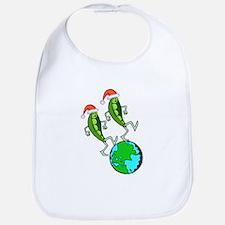 Christmas Peas on Earth Bib