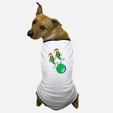 Christmas Peas on Earth Dog T-Shirt