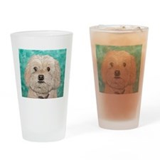 Cockapoo Drinking Glass
