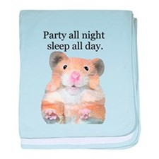 Party Hamster baby blanket