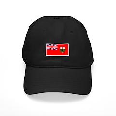 Manitoba Manitoban Blank Flag Baseball Hat
