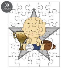 Cute sports baby future star Puzzle