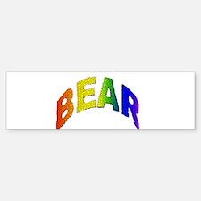 MOSAIC RAINBOW LETTERED BEAR Bumper Bumper Bumper Sticker