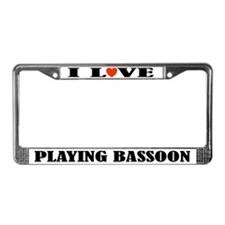 Bassoon Gift License Plate Frame