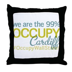 Occupy Cardiff Throw Pillow
