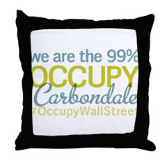 Occupy Carbondale Throw Pillow