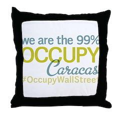 Occupy Caracas Throw Pillow