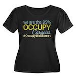 Occupy Caracas Women's Plus Size Scoop Neck Dark T